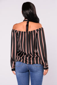 Cora Off Shoulder Top - Black
