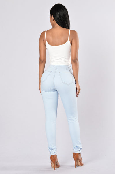 Topnotch High Waist Jeans - Light Blue