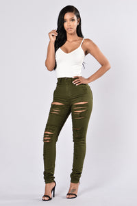 Roll Out Jeans - Olive