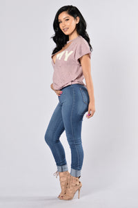 Over Seas Lover Tee - Mauve Angle 6
