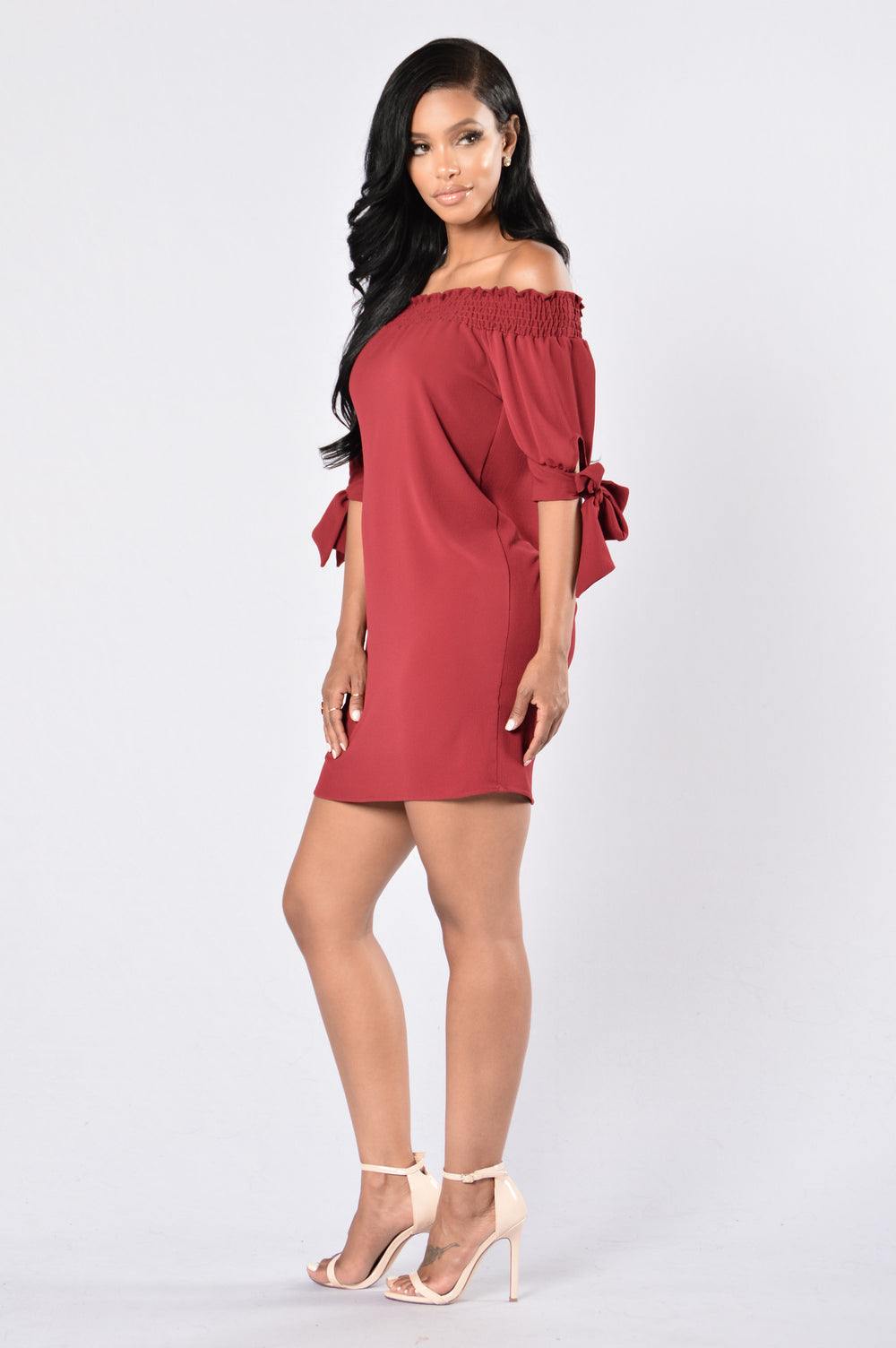 Room for Happiness Dress - Burgundy