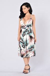 Wrapped Around Me Dress - Jade Angle 1