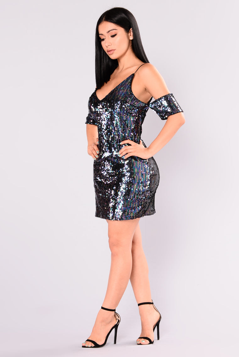 Strut Your Stuff Sequin Dress - Mermaid