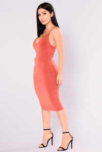 Anne Marie Midi Dress - Rust