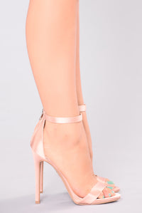 Nancy Fancy Satin Heel - Mauve