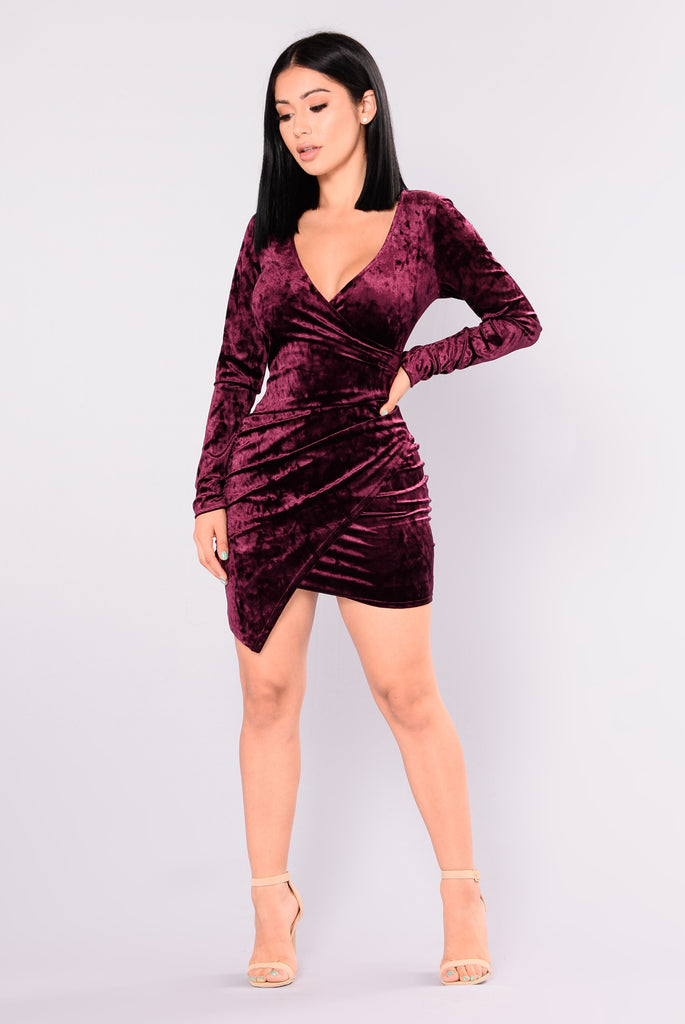 Available In Plum And Ivory Velvet Burnout Mock Neck Mini Dress Lurex Self: 96% Polyester 4% Spandex Lining: % Polyester Made in USA.