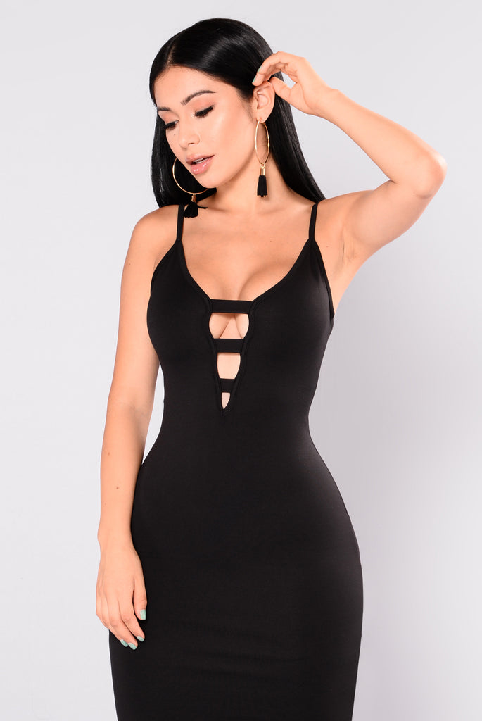 Everson Midi Dress - Black