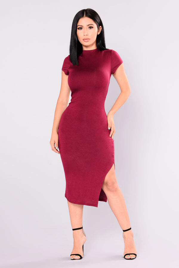 1695a93a55f Dominique Midi Dress - Ruby