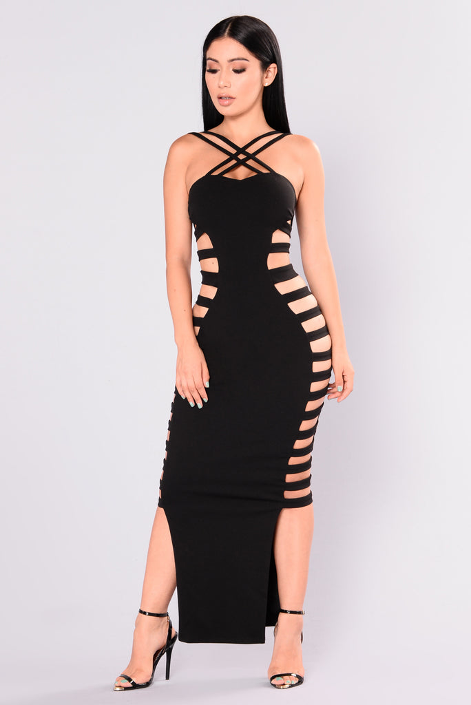 Genna Caged Dress - Black