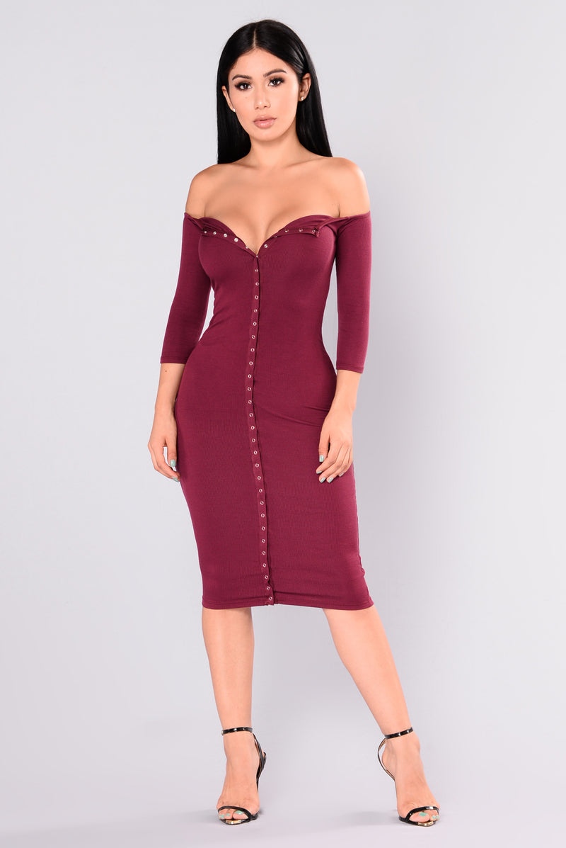 Womens dresses maxi mini cocktail denim sexy club going out puppy love dress burgundy ombrellifo Image collections