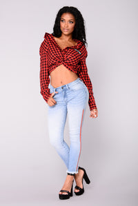 Eliana Gingham Top - Red/Black Angle 8