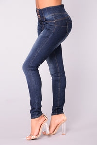 Keep Dreaming Booty Shaping Jeans - Dark Blue