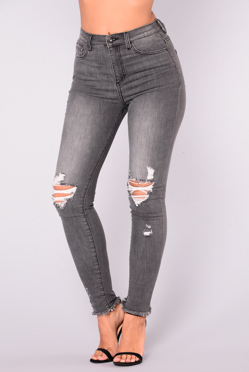 Mallison High Rise Jeans - Charcoal