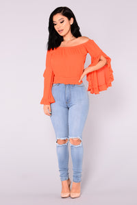 Kissland Ruffle Top - Tomato