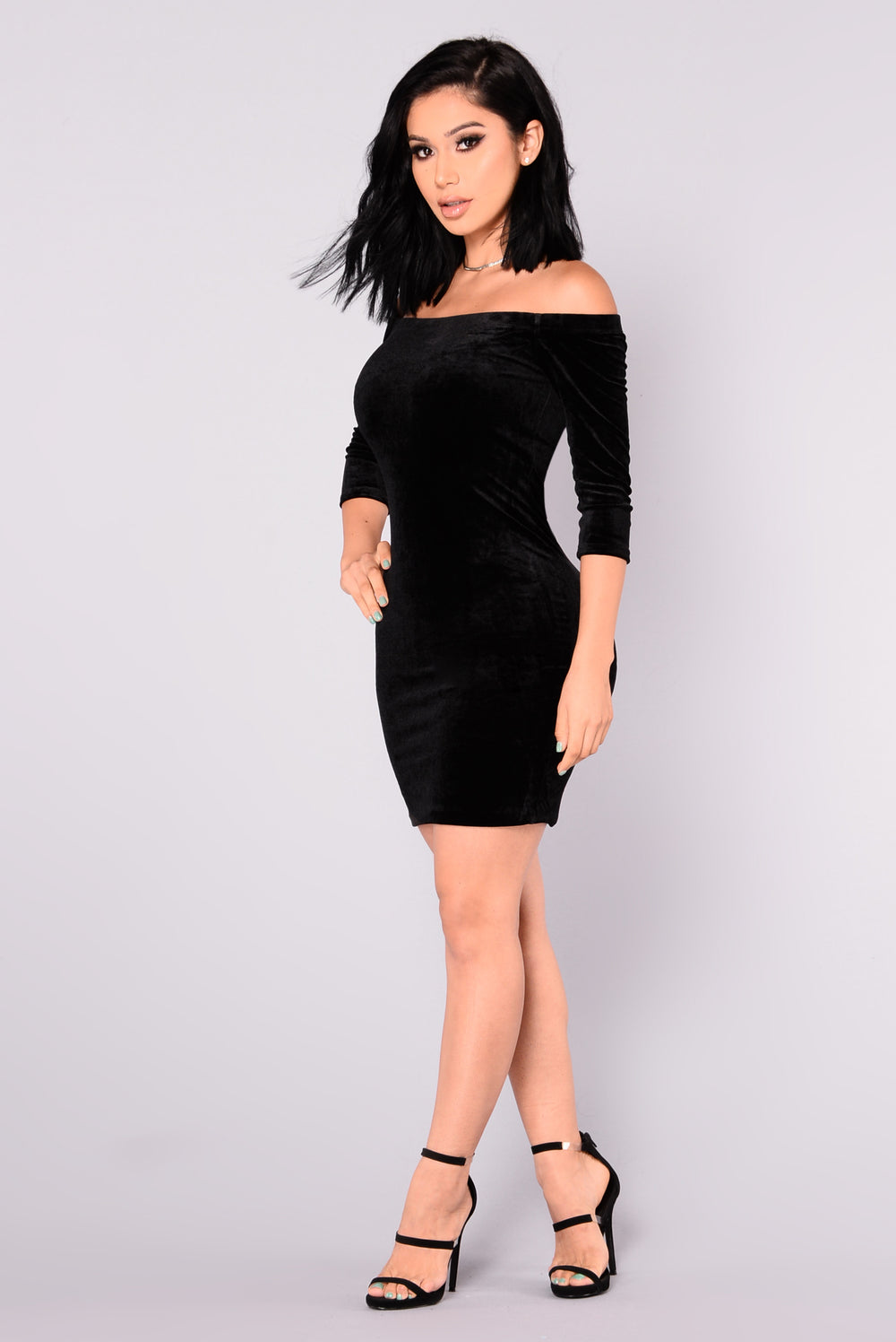 Willow Velvet Dress - Black