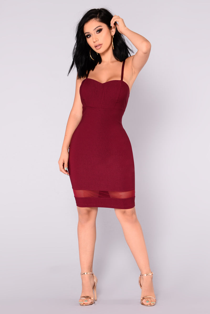 Ena Mini Dress - Wine
