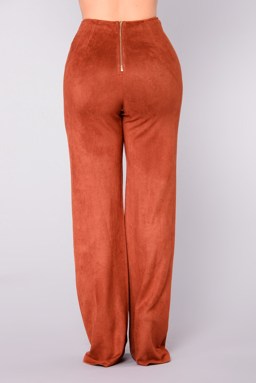 Get In Formation Suede Pants - Rust