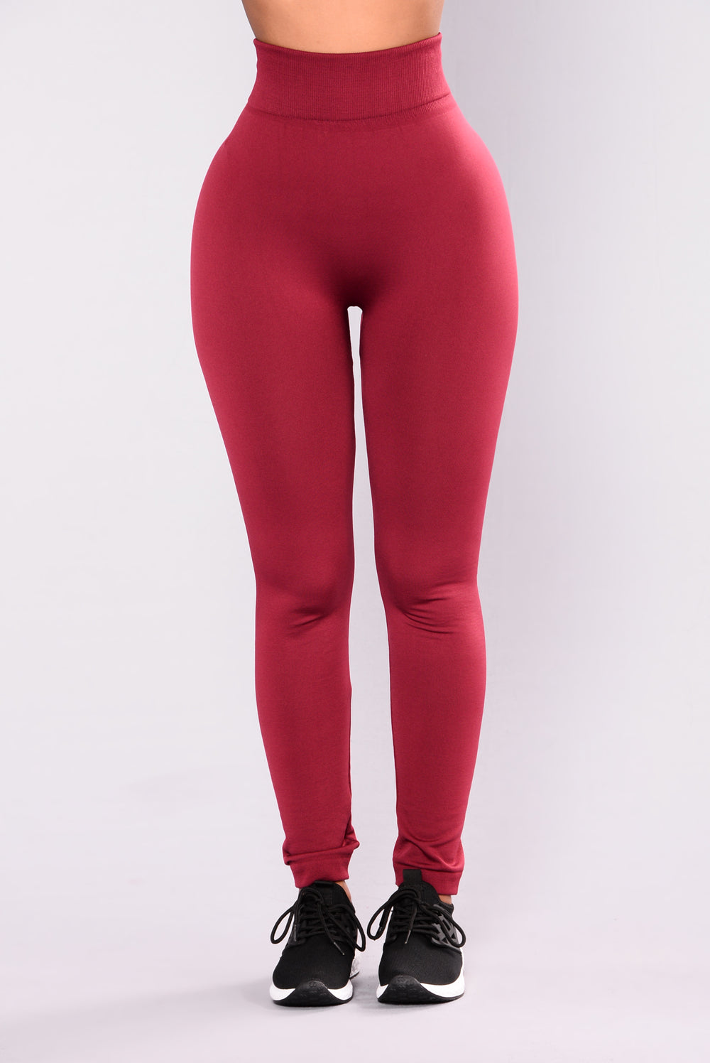 Yes Fleece II Leggings - Burgundy