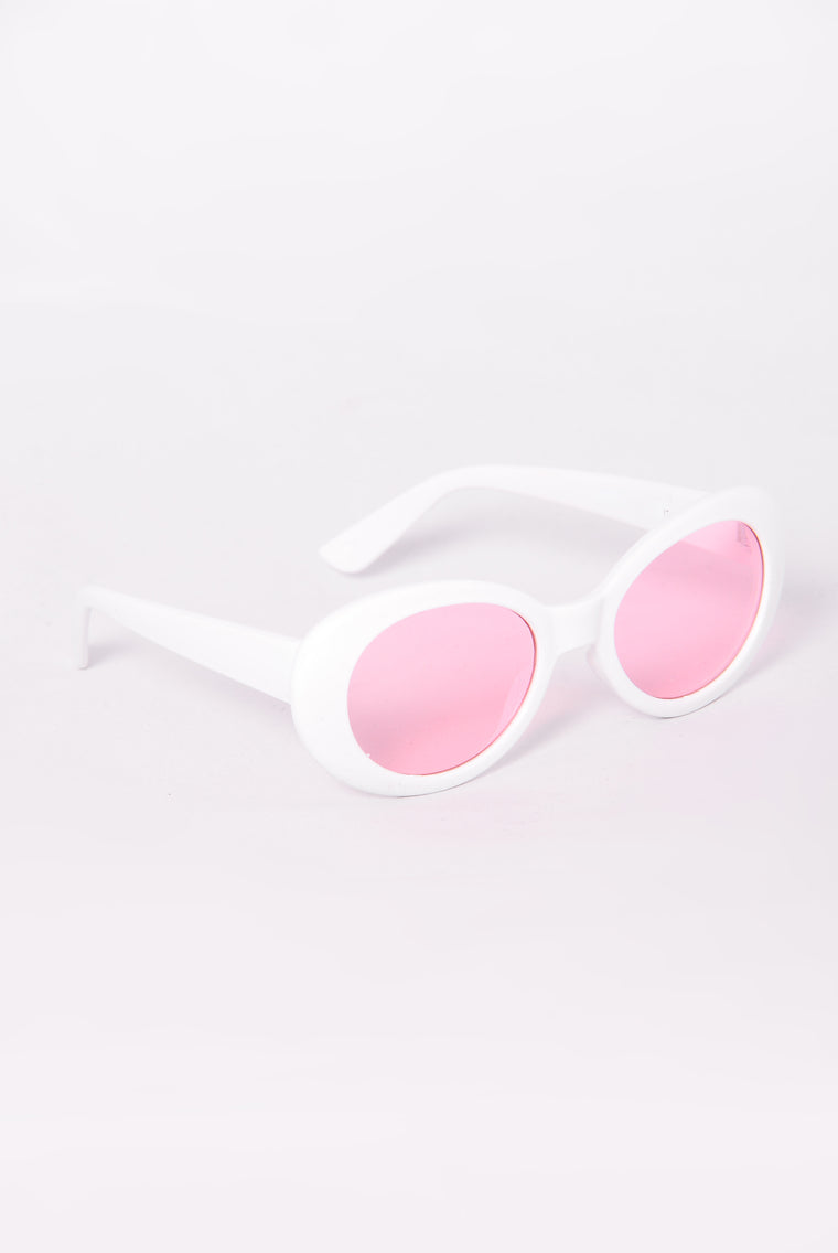Posh Sunglasses - White/Pink