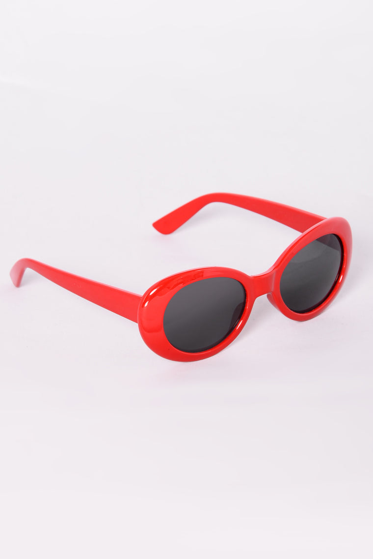 Posh Sunglasses - Red/Smoke