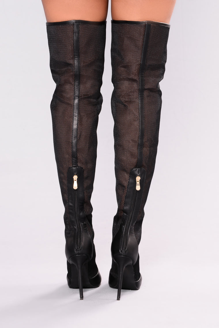 Tifany Over The Knee Boot - Black
