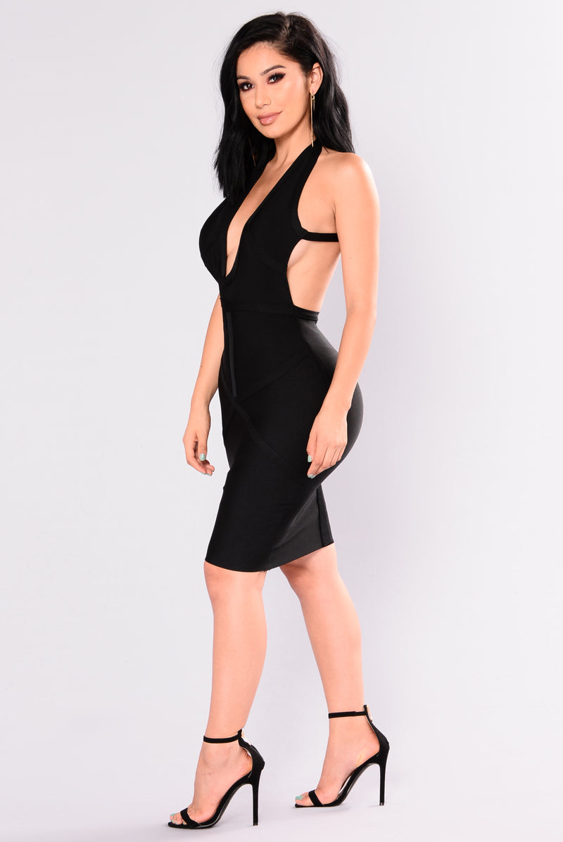 Giana Bandage Dress - Black
