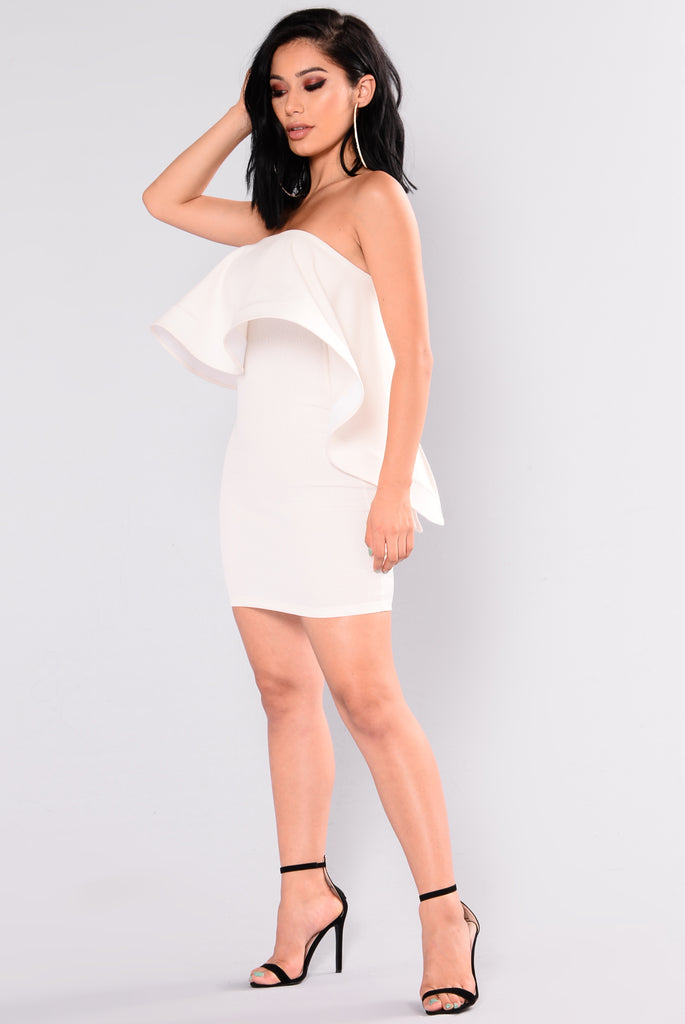 Head Over Heels Ruffle Dress - Ivory