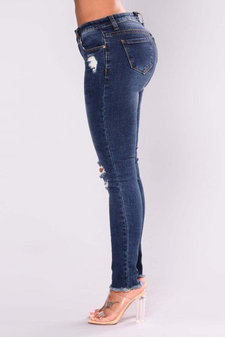 Love Galore High Rise Jeans - Dark Blue