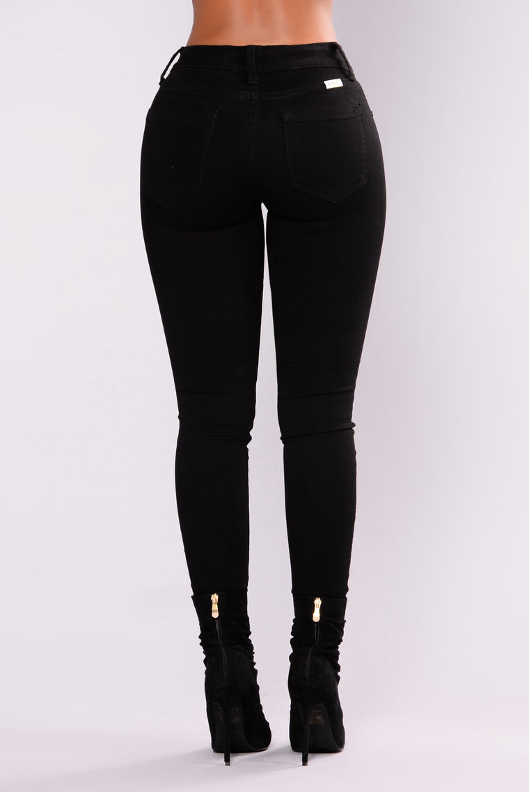 Nothing To Lose Skinny Jeans - Black