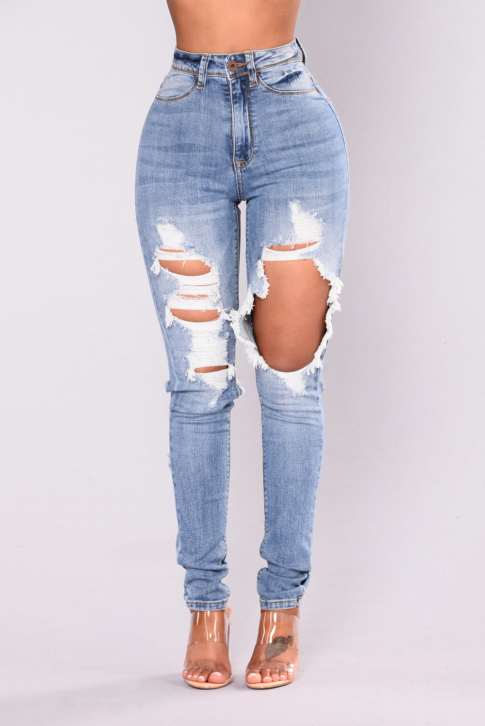 Know This High Rise Jeans - Light