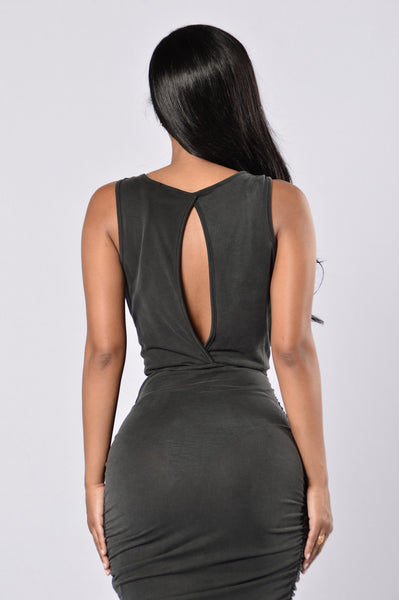 Secretly Sexy Dress - Charcoal
