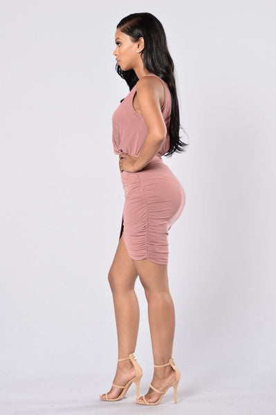Secretly Sexy Dress - Mauve