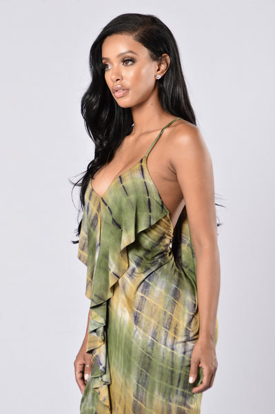 Dye For Love Dress - Olive