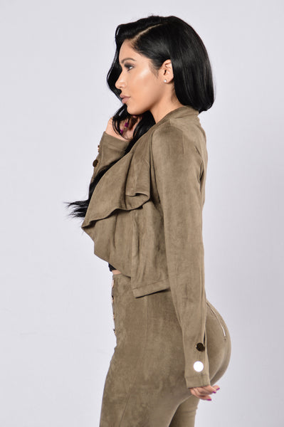 Bow Down Jacket - Olive