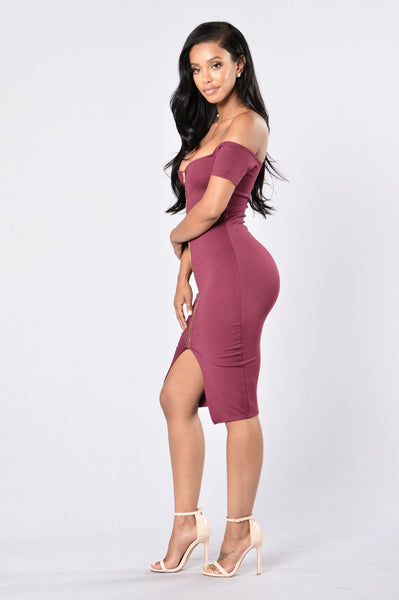 Breaking Borders Dress - Burgundy