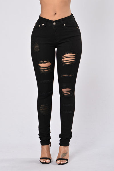 Mist Of The Night Jeans - Black