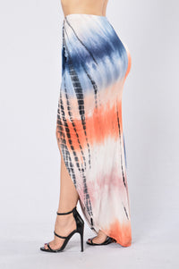 Whoa Whoa Whoa Skirt - Blue Multi