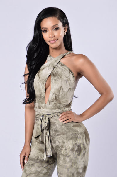 Dance With Me Jumpsuit - Olive