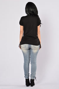 Always Neutral Top - Black Angle 5