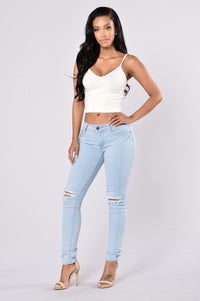 Rough And Tough Jeans - Light Blue Angle 2