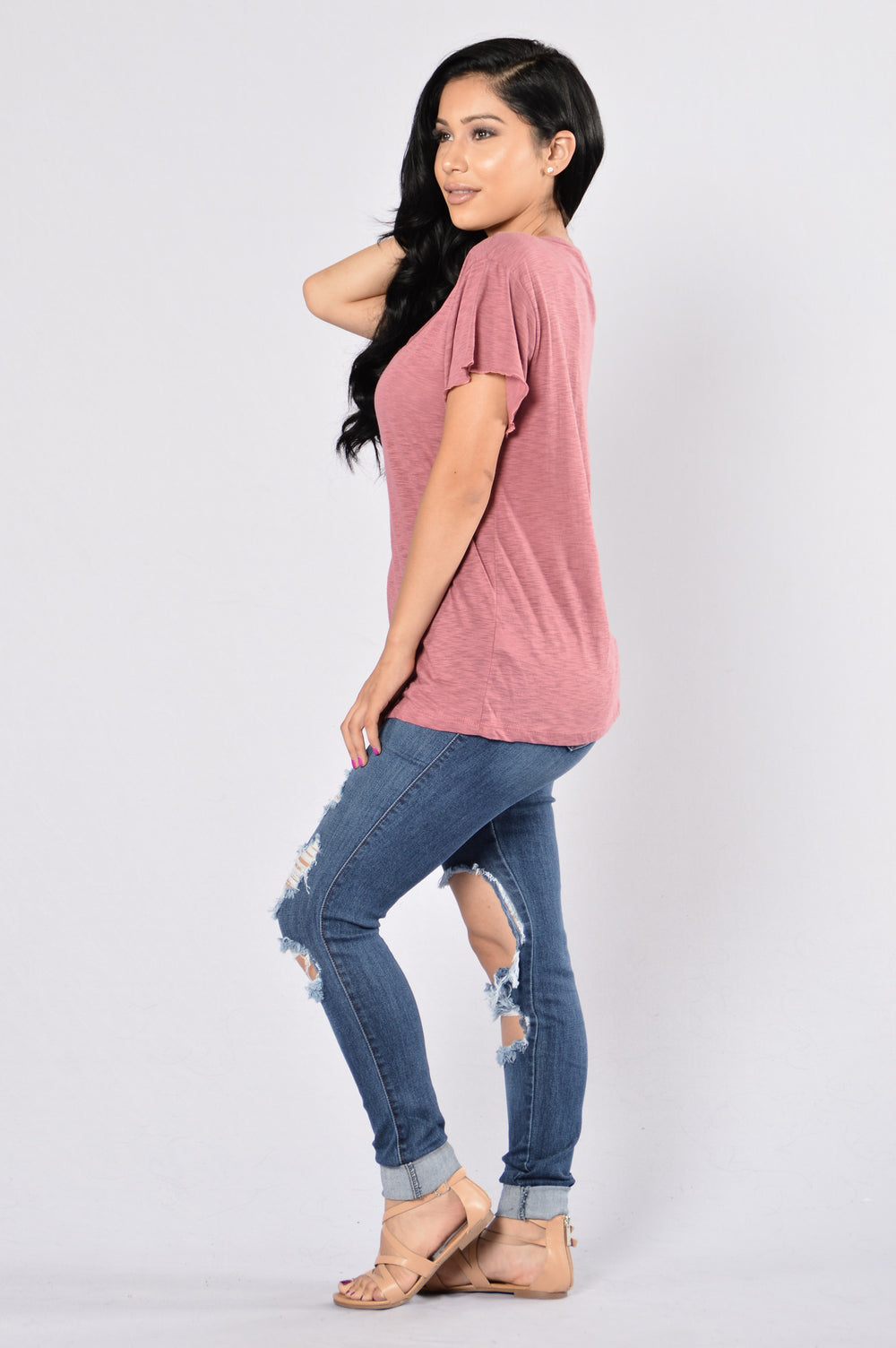 Step Up Tee - Dusty Rose