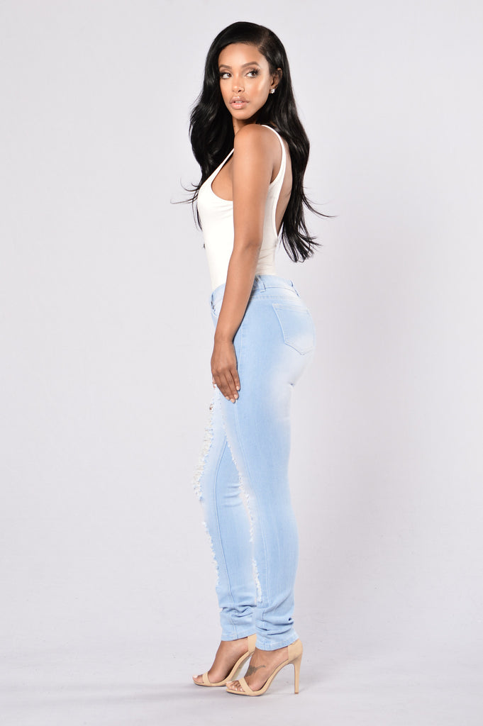 Perfect Timing Jeans - Light Blue