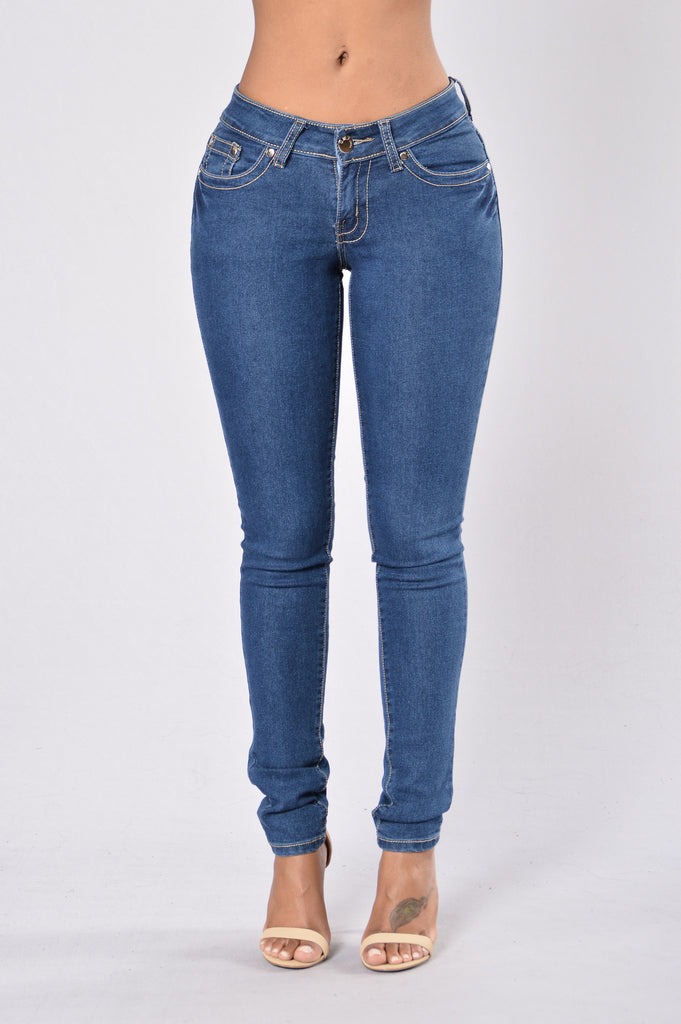 At Ease Jeans - Medium Blue