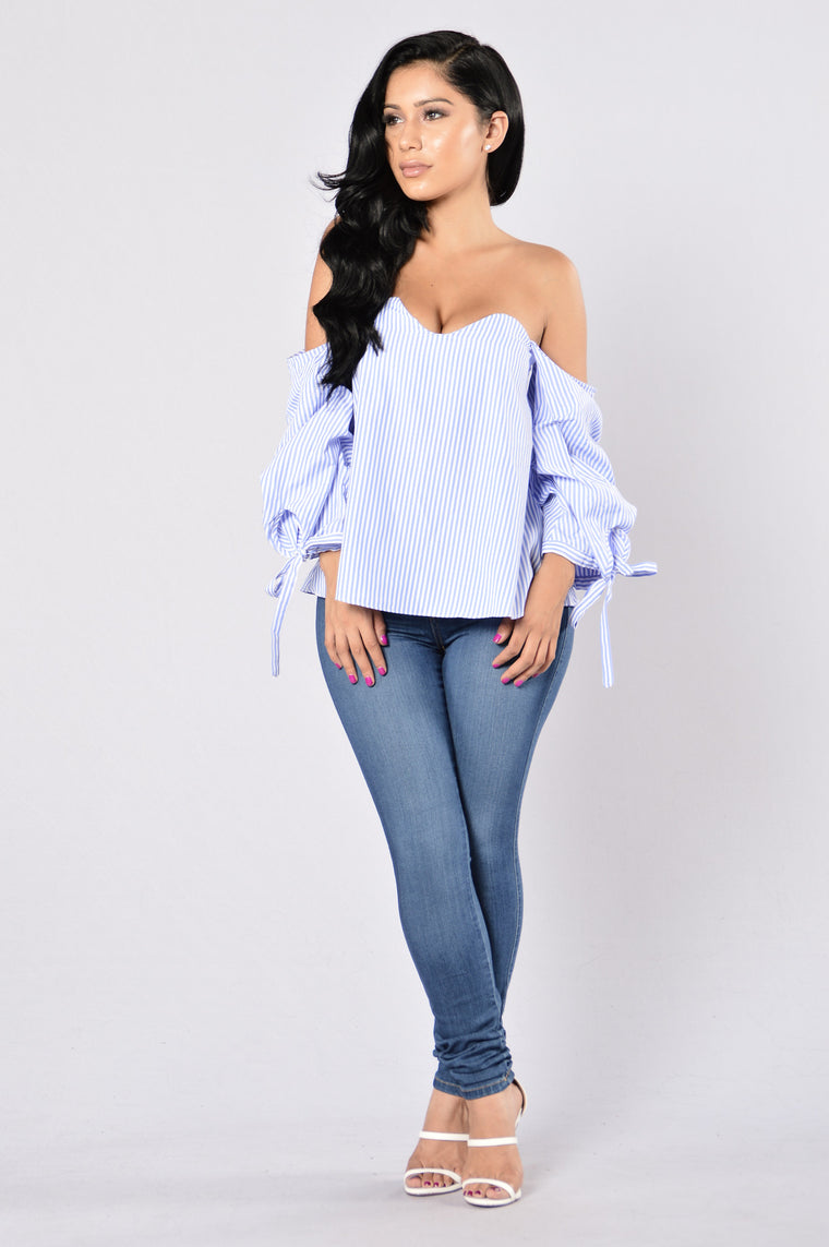 Song of Love Top - Light Blue