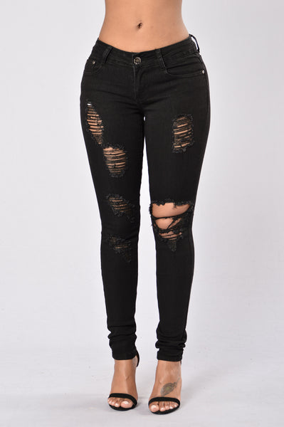 Howl At The Moon Jeans - Black