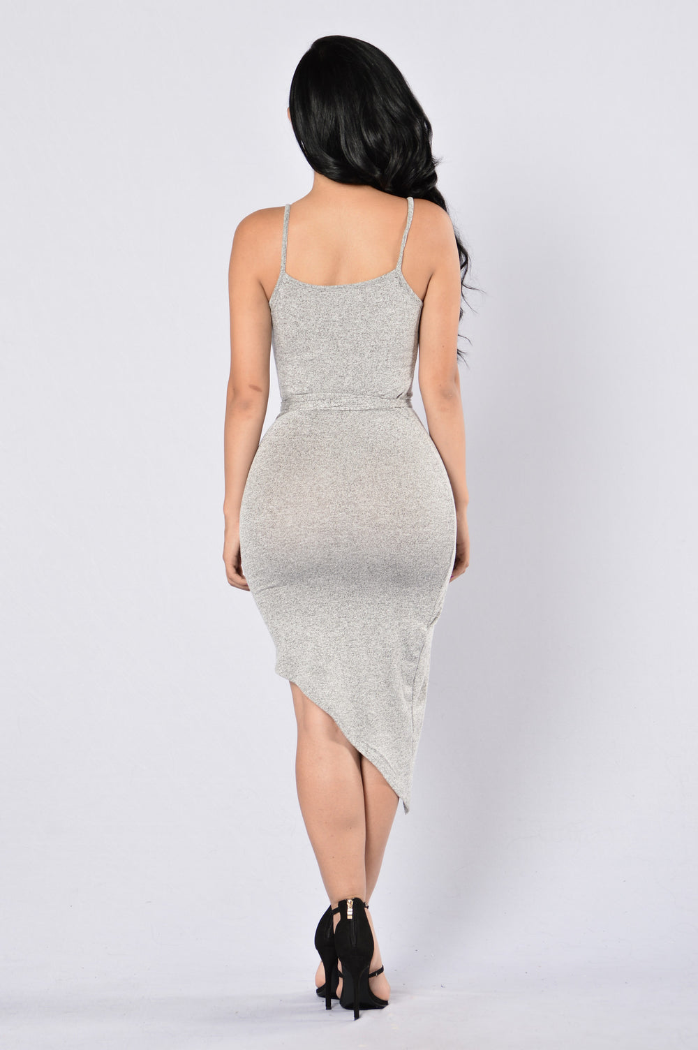 Calm and Collected Dress - Heather Grey