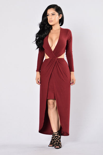Still Got It Dress - Burgundy