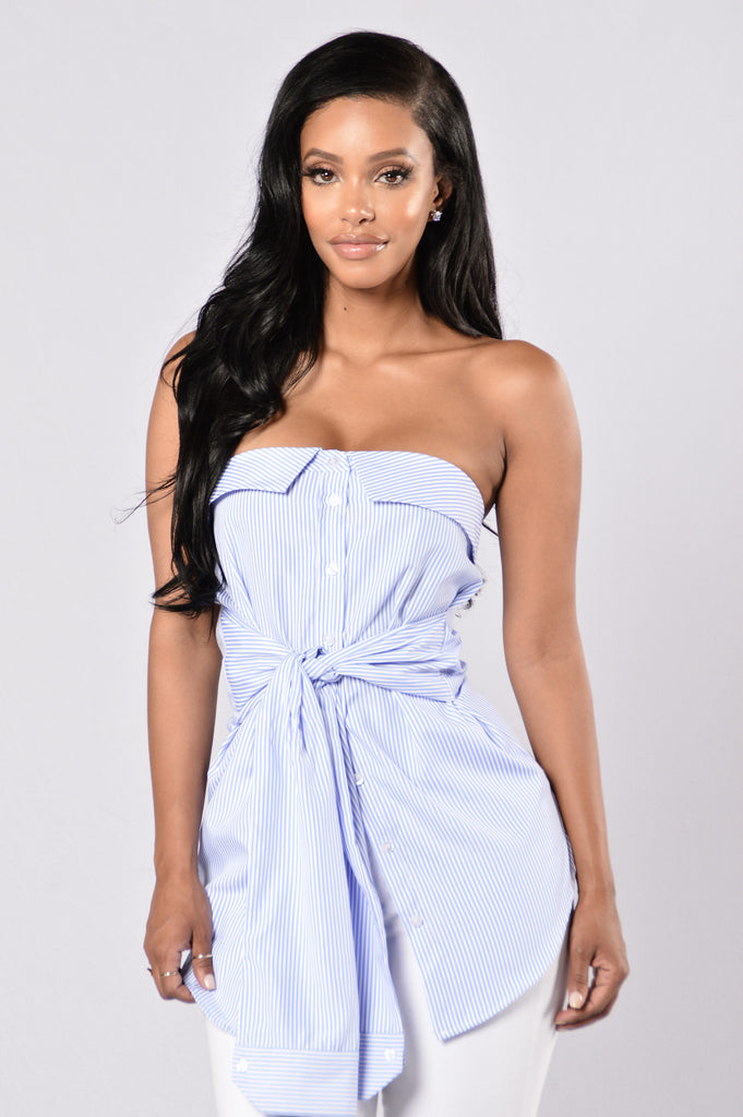 Yacht Party Top - Light Blue