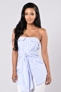 Yacht Party Top - Light Blue Angle 1