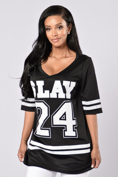 All Day Slay Tunic - Black